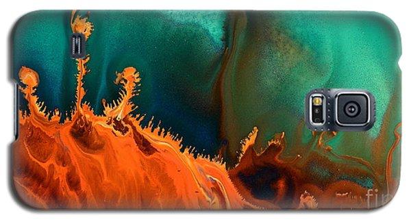 Sea Anemone - Contemporary Abstract Fluid Art By Kredart Galaxy S5 Case