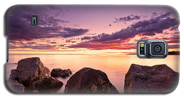 Sea At Sunset The Sky Is In Beautiful Dramatic Color Galaxy S5 Case