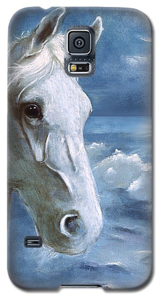 Galaxy S5 Case featuring the painting Sea Dreams In Blue by Terry Webb Harshman