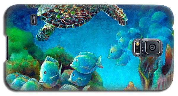 Sea Escape IIi - Hawksbill Gemstone Turtle Galaxy S5 Case