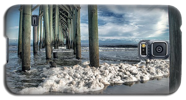 Sea Foam And Pier Galaxy S5 Case by Phil Mancuso