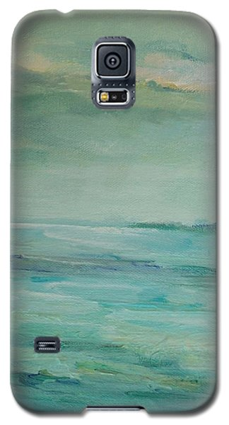 Galaxy S5 Case featuring the painting Sea Glass by Mary Wolf