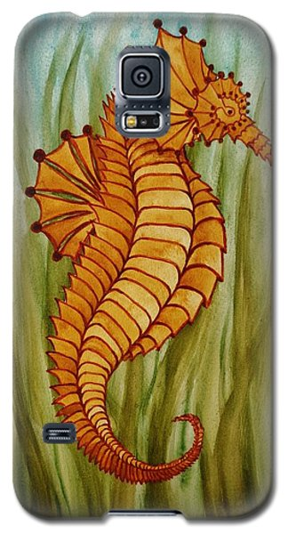 Galaxy S5 Case featuring the painting Sea Horse by Katherine Young-Beck