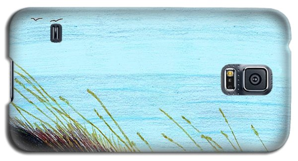 Galaxy S5 Case featuring the drawing Sea Oats In The Wind Drawing by D Hackett