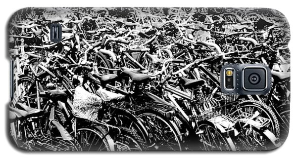 Galaxy S5 Case featuring the photograph Sea Of Bicycles 3 by Joey Agbayani