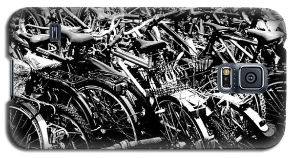 Galaxy S5 Case featuring the photograph Sea Of Bicycles 2 by Joey Agbayani