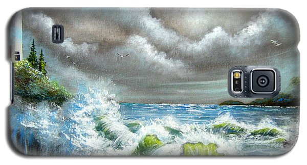 Galaxy S5 Case featuring the painting Sea Of Smiling Faces by Patrice Torrillo