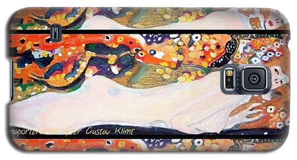Sea Serpent IIi Tryptic After Gustav Klimt Galaxy S5 Case by Anna Porter