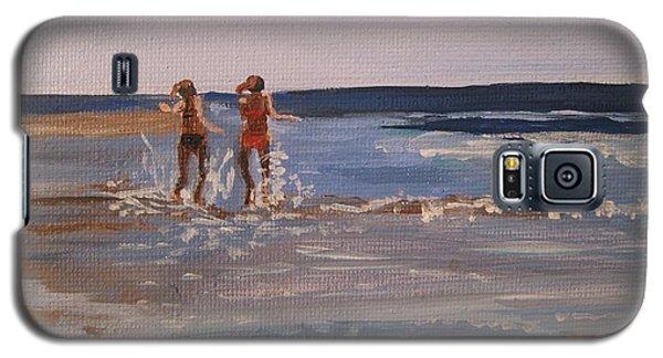 Sea Splashing On The Beach Galaxy S5 Case