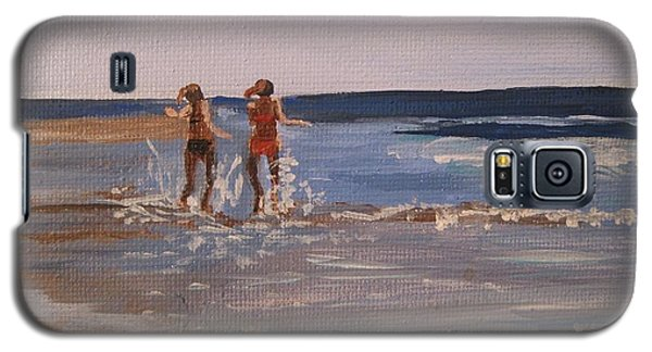 Sea Splashing On The Beach Galaxy S5 Case