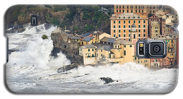 Galaxy S5 Case featuring the photograph Sea Storm In Camogli - Italy by Antonio Scarpi