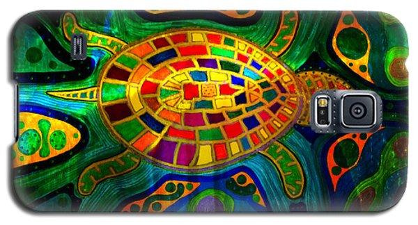 Sea Turtle - Abstract Ocean - Native Art Galaxy S5 Case