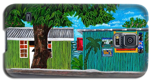 Galaxy S5 Case featuring the painting Sea-view Cafe by Laura Forde