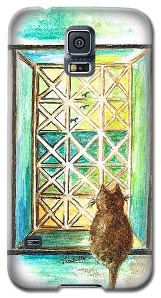 Curiosity - Cat Galaxy S5 Case by Teresa White