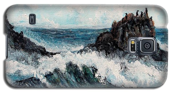 Galaxy S5 Case featuring the painting Sea Whisper by Shana Rowe Jackson