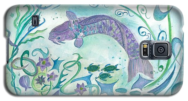 Sea World -painting Galaxy S5 Case by Veronica Rickard