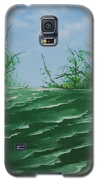 Galaxy S5 Case featuring the painting Seafoam Surf by Jennifer Muller