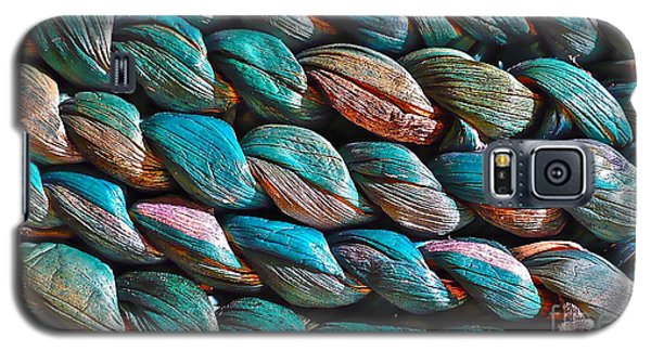 Galaxy S5 Case featuring the photograph Seagrass Blue by Linda Bianic