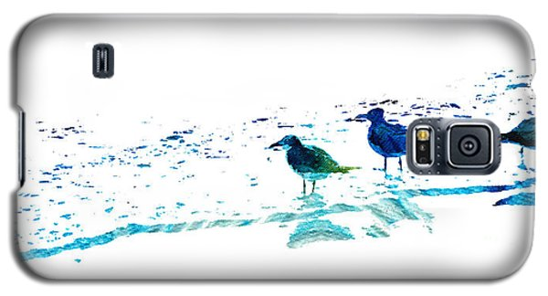 Seagull Art - On The Shore - By Sharon Cummings Galaxy S5 Case by Sharon Cummings