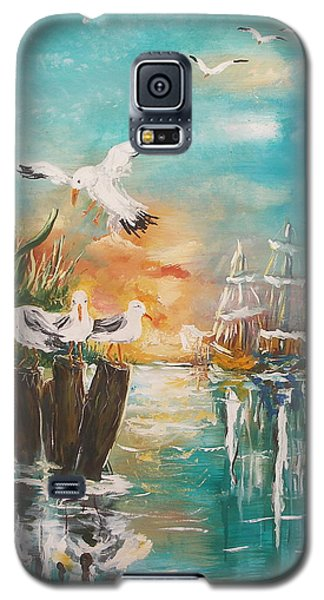 Seagull At Rest Galaxy S5 Case