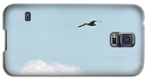 Galaxy S5 Case featuring the photograph Seagull Flying High by Leif Sohlman