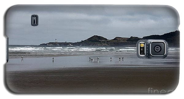 Galaxy S5 Case featuring the photograph Seagulls And Lighthouse by Erica Hanel