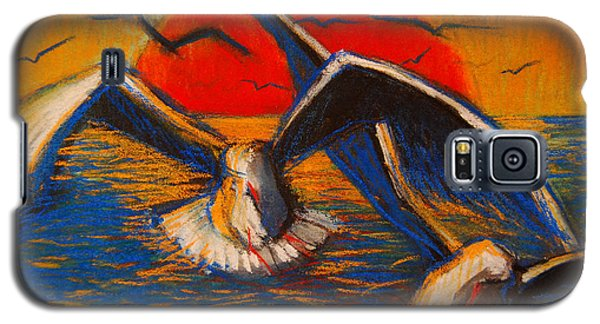 Seagulls At Sunset Galaxy S5 Case by Mona Edulesco