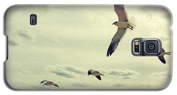 Galaxy S5 Case featuring the photograph Seagulls In Flight by Bradley R Youngberg