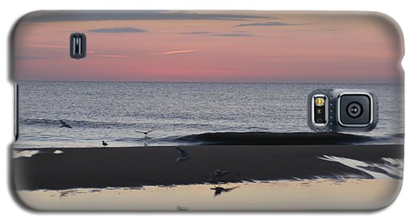 Seagulls Sea And Sunrise Galaxy S5 Case by Robert Banach