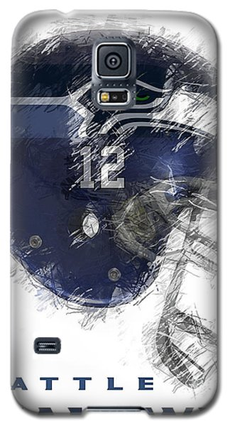 Seahawks 12 Galaxy S5 Case by Daniel Hagerman