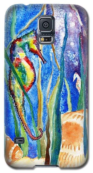 Seahorse And Shells Galaxy S5 Case by Carlin Blahnik