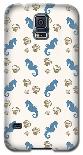 Seahorse And Shells Pattern Galaxy S5 Case by Christina Rollo