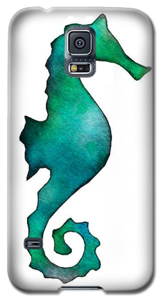 Galaxy S5 Case featuring the painting Seahorse by Laura Bell