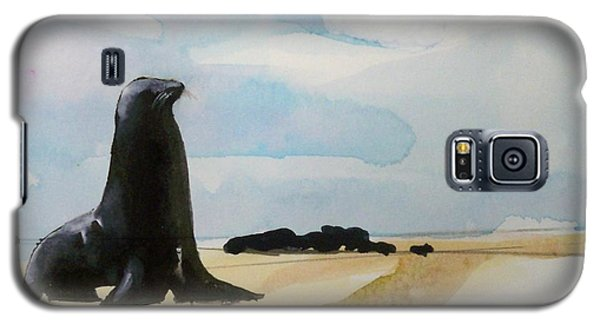 Galaxy S5 Case featuring the painting Seal Rock by Ed  Heaton