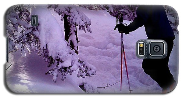 Galaxy S5 Case featuring the photograph Searching For Powder by James Aiken