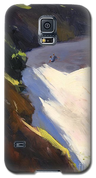 Galaxy S5 Case featuring the painting Seascape Drama After Colley Whisson by Nancy  Parsons