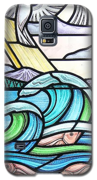 Seascape Galaxy S5 Case by Gilroy Stained Glass