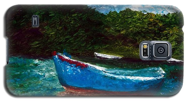 Galaxy S5 Case featuring the painting Seaside Blue Boy II by Ayasha Loya