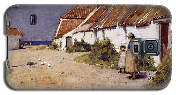 Seaside Cottages With Dovecot Galaxy S5 Case by Edward Arthur Walton