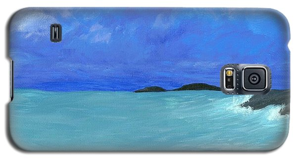 Galaxy S5 Case featuring the painting Seaside by Elizabeth Sullivan