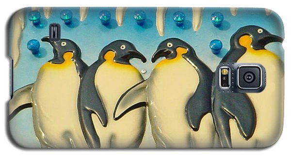 Seaside Funtown Penguins Galaxy S5 Case