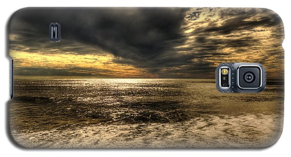 Galaxy S5 Case featuring the photograph Seaside Sundown With Dramatic Sky by Julis Simo