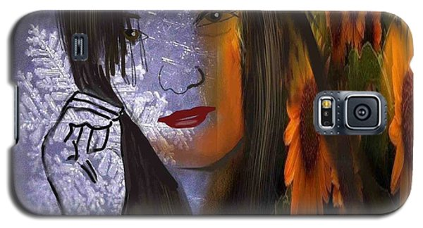 Galaxy S5 Case featuring the digital art Seasonal Duality by Diana Riukas