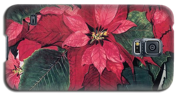 Galaxy S5 Case featuring the painting Seasonal Scarlet 2 by Barbara Jewell