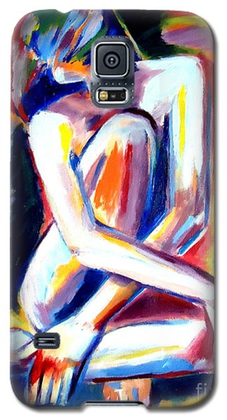 Galaxy S5 Case featuring the painting Seated Lady by Helena Wierzbicki