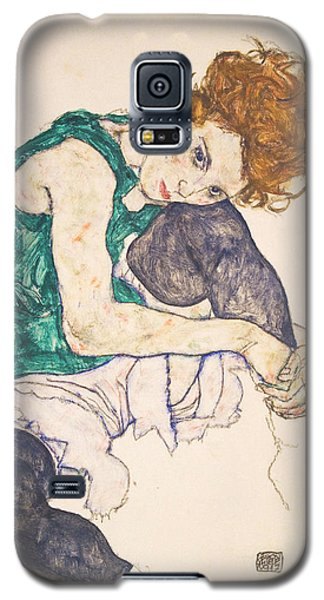 Seated Woman With Legs Drawn Up. Adele Herms Galaxy S5 Case