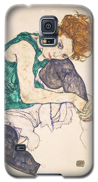 Seated Woman With Legs Drawn Up. Adele Herms Galaxy S5 Case by Egon Schiele