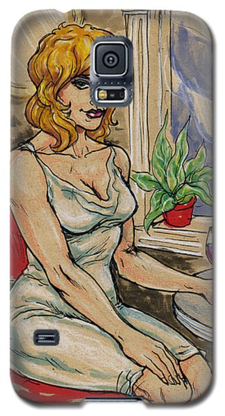 Seated Woman With Wine Galaxy S5 Case