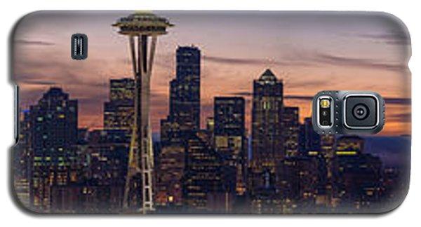 Seattle Cityscape Morning Light Galaxy S5 Case by Mike Reid