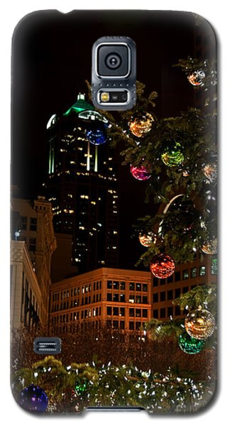 Seattle Downtown Christmas Time Art Prints Galaxy S5 Case